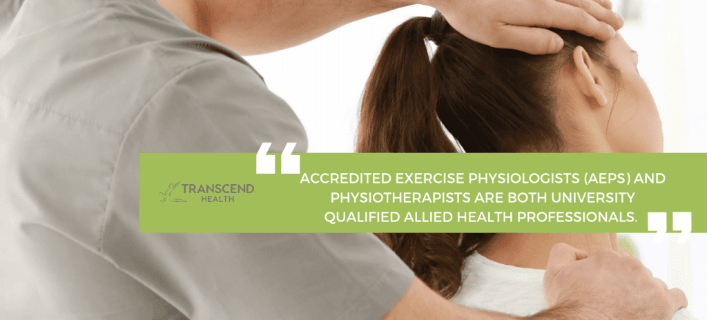 physiotherapist and exercise physiologist